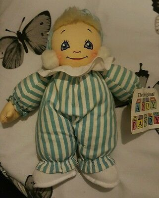 Vintage The Original Andy Pandy Soft Toy Plush Rag Doll With Tags