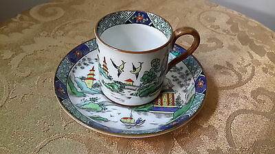Rare  Tiffany & Co. Crown Staffordshire Chinese Cup & Saucer