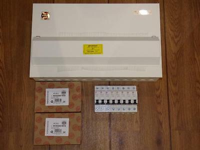 Brand New Wylex metal 15 way, Amendment 3 consumer unit.Incl RCBO's & MCB's