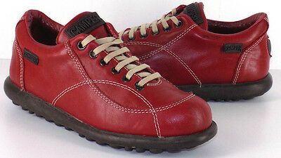 CAMPER PELOTAS RED LEATHER LACE UP OXFORDS SNEAKERS WOMEN'S 36C US Size 6W