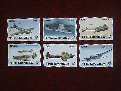 THE GAMBIA 1990 RAF AIRCRAFT OF WORLD WAR II 6v MINT MNH