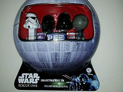 PEZ Star Wars Rogue One Collectible Death Star Gift Tin NEW