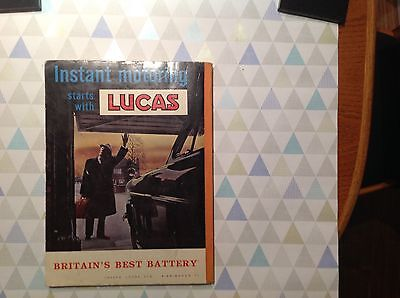 Vintage Instant Motoring Book Starts With Lucas
