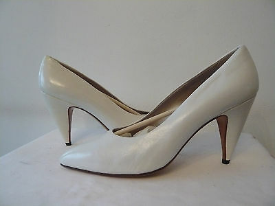 "Court shoes Top range Leather ""White"" I.BOSSI T. 39,5"