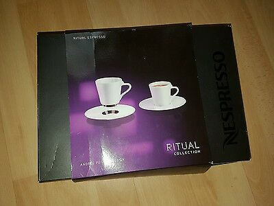 Nespresso Ritual Collection Andree Putman Pair of Espresso Cups & Saucers