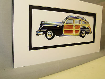 1942 Chrysler Wagon   from Artist Auto Museum Full color Illustrated not photo
