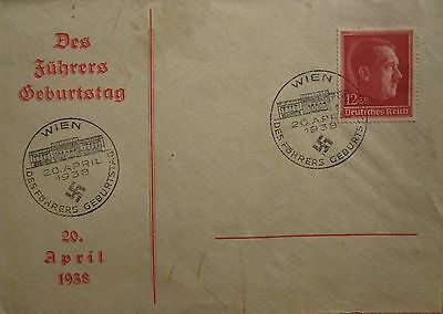 1938 first day cover Vienna