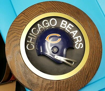 Vintage 1970S Chicago Bears  14 Inch Round Wall Plaque.