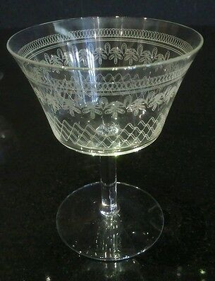 Fine, Cut and Etched Pall Mall Wine Glasses