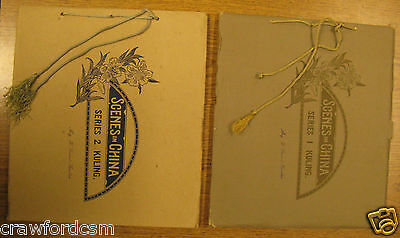 Scenes in China Kuling Series 1 and 2 Albums with photos in original boxes 1918