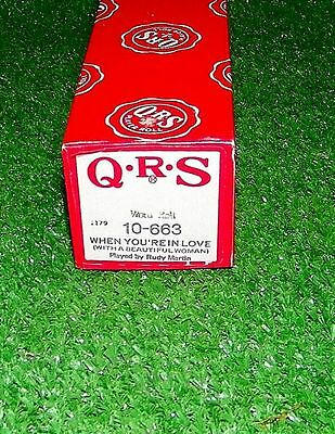 Vintage QRS Player Piano Roll When You're In Love 10-663 Rare Excellent Tested