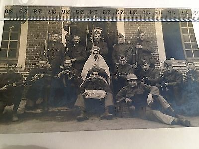 Ww1   Old Photocard    Belgian Soldiers  - Full Guns And Uniforms