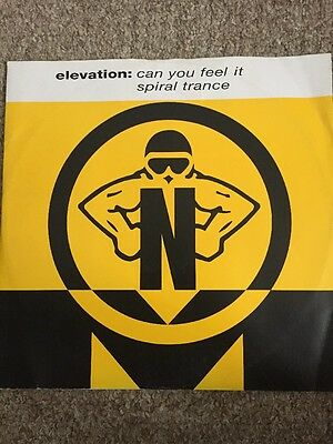 """Elevation Can You Feel It / Spiral Trance 12"""" NovaMute 1992"""