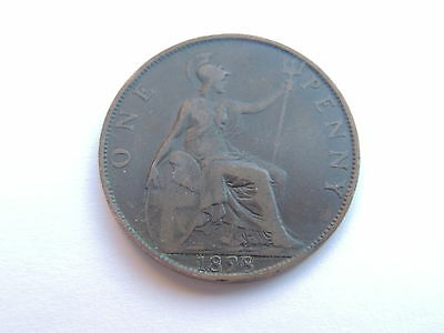 1898 QUEEN VICTORIA ONE PENNY COIN Ref 172