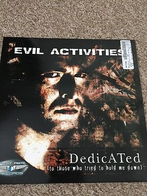 """Evil Activities – Dedicated (To Those Who Tried To Hold Me Down) 12"""" Hardcore"""