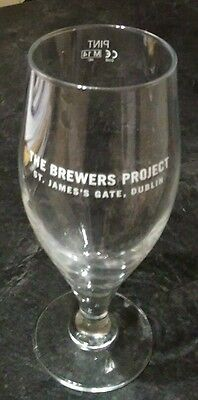 Pint Glass from the Brewer's Project, Dublin