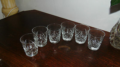 set of four matching tumblers crystal cut glasses whiskey glasses