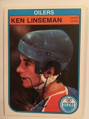 Ken Linseman1982-3 OPC Autographed Signed Card # 115
