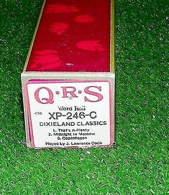 Vintage QRS Player Piano Roll Dixieland Classics XP-246-C RARE Excellent Tested