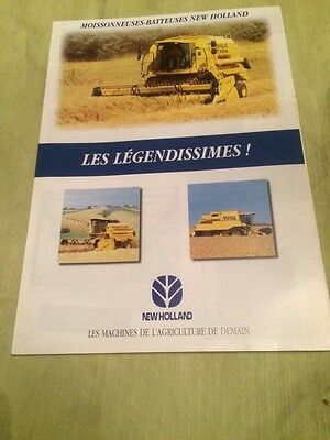 Brochure Prospectus Moissonneuse Batteuse New Holland