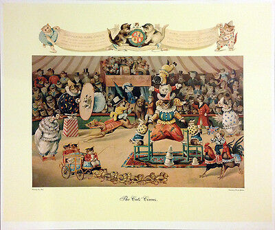 Cats Circus by Louis Wain - Open edition print - Cats