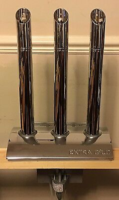 3 Way Chrome/stainless Steel Beer Pump Font Bare - Used