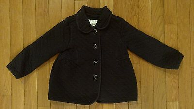 Girl's Gymboree Navy Quilted Jacket, Size 2T-3T