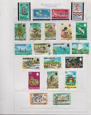 GILBERT & Ellice ISLANDS 1970-75 on 7 album pages used & mint