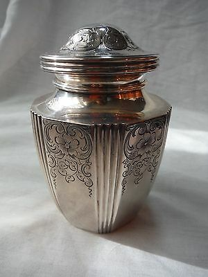 Theodore B. Starr Sterling Silver Tea Caddy--Nyc Made--1877-1900--Fifth Ave Shop