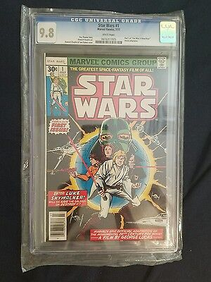 STAR WARS # 1 CGC 9.8! WHITE PAGES!! First Print Original 1977 Marvel series.
