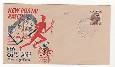 1950 Australia NEW POSTAL RATES - NEW 8&1/2d STAMP  - First Day Cover 14/8/1950