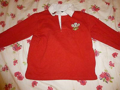 Boys Red Welsh Rugby Long sleeve top age 3-4years, 4-5 years