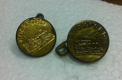 Vintage, Rialroad, Buttons, Rockford R.R.
