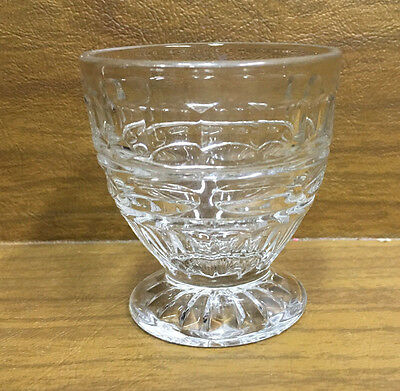 Vintage pressed glass small cup clear glass
