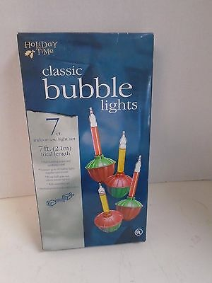 Classic Bubble Lights 7 Seven Christmas Tree Holiday Time Indoor Use 7 Ft New