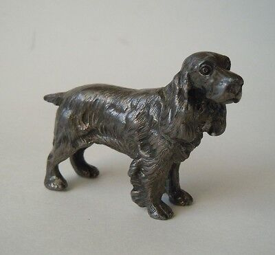 Cocker Spaniel Small Metal Dog Figurine Vintage Collectible