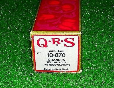 Vintage QRS Piano Roll Grandpa Tell Me Bout The Good Old Days 10-870 Exc Tested