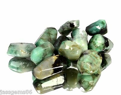 Certified 80.00 CT. Natural Emerald Green Rough Shaped Gemstone S.T NO-12143
