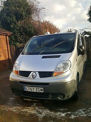 Renault Trafic 115 Dci Crew Cab Factory Fitted 2008 Spares Or Repair No Vat