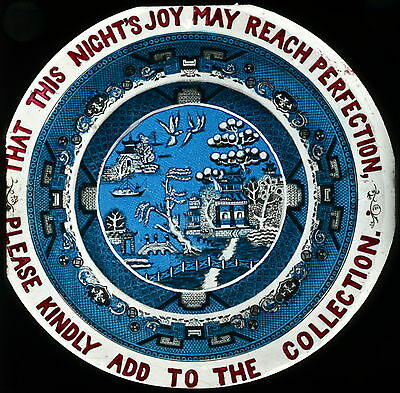 PLEASE GIVE THAT THIS NIGHTS JOY MAY REACH PERFECTION HAND PAINTED Slide [630]