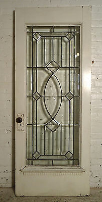 Single Victorian American Cut Glass Door