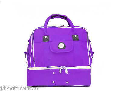 Lawn Bowls 4 Bowl Carry Bag with Shoe Pocket  AVALON       PURPLE ONLY