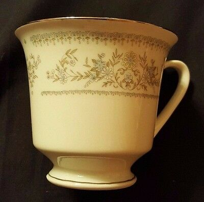 Vintage Tea Cup, Made in China, Chinese Writing on the Bottom, Silver Trim