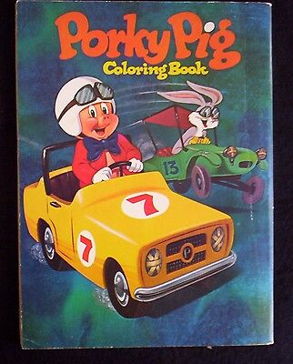 PORKY PIG Bugs Bunny COLORING BOOK Whitman 1972