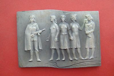 Czechoslovakia, 1970's,bronze medal.WWII anniversary of the liberation of Nazi.