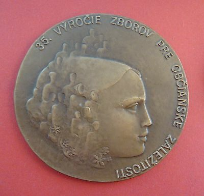 Czechoslovakia, 1970's,bronze medal. WWII anniversary of the liberation of Nazi.