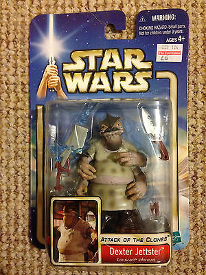 Star Wars Dexter Jettster Attack Of The Clones Figure BNIB.