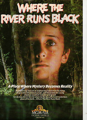A4 Advert for the Video Release of Where the River Runs Black