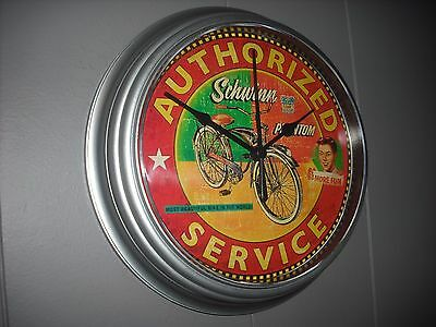 Personalized Schwinn Bicycle Authorized Dealer Repair Wall Clock FREE SHIPPING