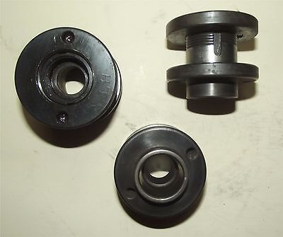 "surface grinder hubs and nuts...left hand...for 1 1/4"" wheels... .. lot of 3"